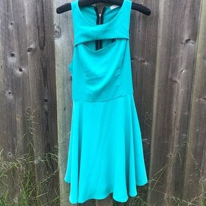 Lush Keyhole Zip Dress